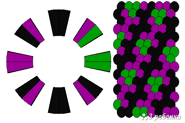 Схема фенечки кумихимо 23137