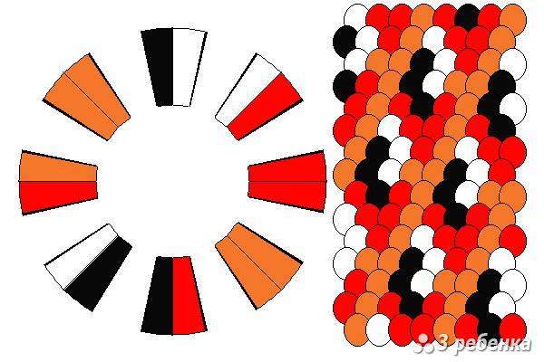 Схема фенечки кумихимо 23133