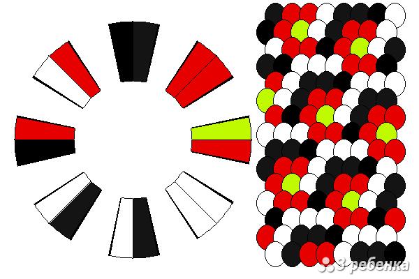 Схема фенечки кумихимо 23129