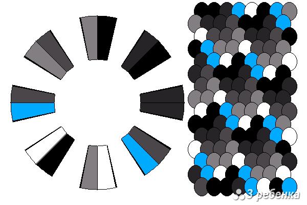 Схема фенечки кумихимо 23125
