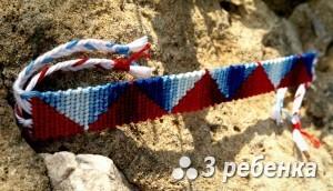 Схема фенечки прямым плетением 23304