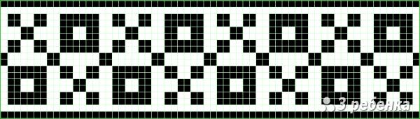 Схема фенечки прямым плетением 23326