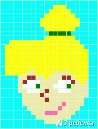 Схема фенечки прямым плетением 23396