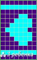 Схема фенечки прямым плетением 23381