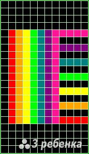 Схема фенечки прямым плетением 23427