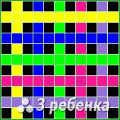 Схема фенечки прямым плетением 22749