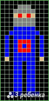 Схема фенечки прямым плетением 23321
