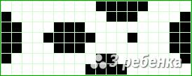 Схема фенечки прямым плетением 23457