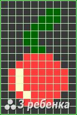 Схема фенечки прямым плетением 23472