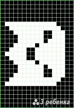 Схема фенечки прямым плетением 23421