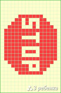 Схема фенечки прямым плетением 23316
