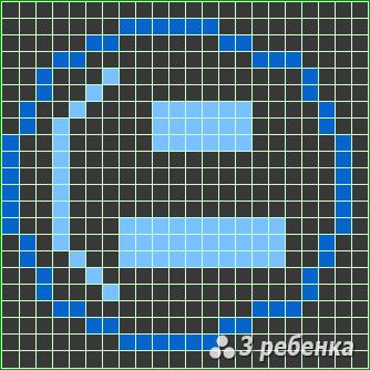 Схема фенечки прямым плетением 23437