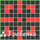 Схема фенечки прямым плетением 23331