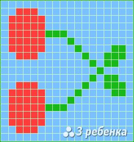 Схема фенечки прямым плетением 23452
