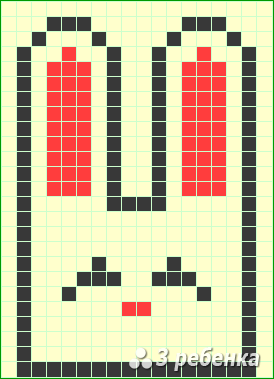 Схема фенечки прямым плетением 23391