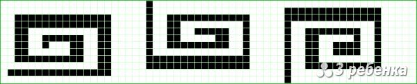Схема фенечки прямым плетением 23467