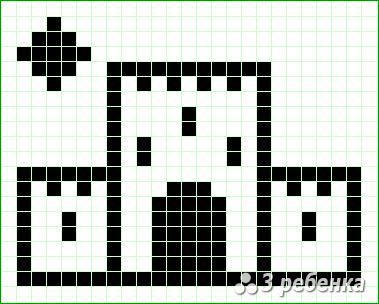 Схема фенечки прямым плетением 23346