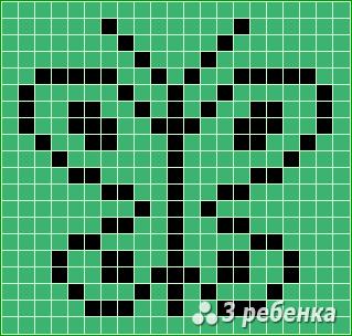 Схема фенечки прямым плетением 23416