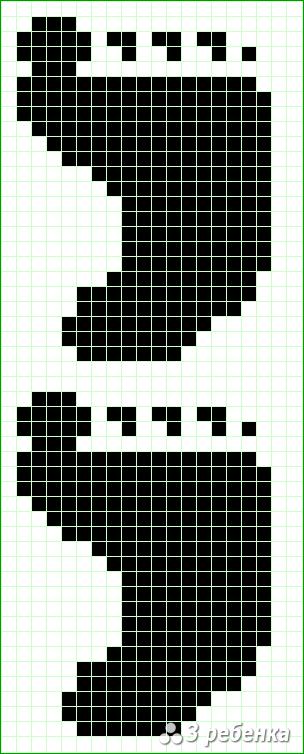 Схема фенечки прямым плетением 23386
