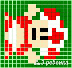 Схема фенечки прямым плетением 23311