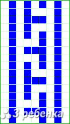 Схема фенечки прямым плетением 23336
