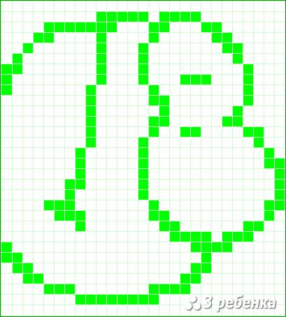 Схема фенечки прямым плетением 22754