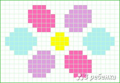 Схема фенечки прямым плетением 23376