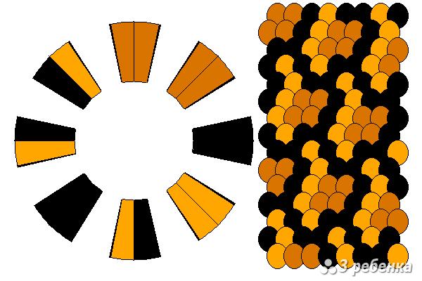 Схема фенечки кумихимо 23278