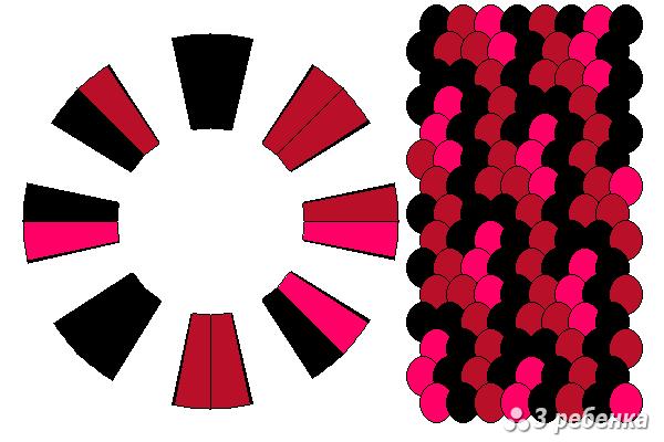 Схема фенечки кумихимо 23274