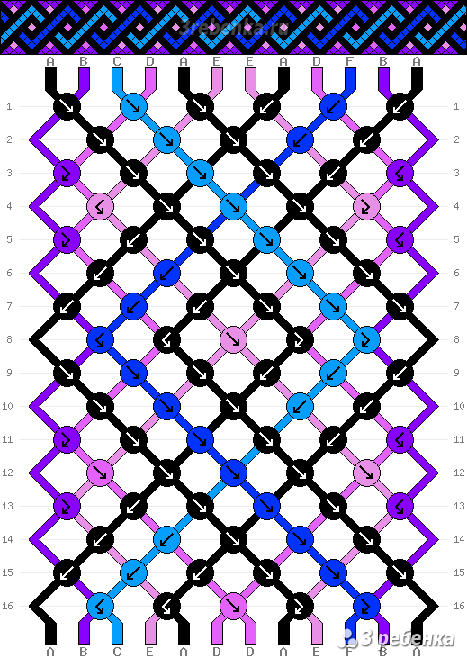 Схема фенечки 23596