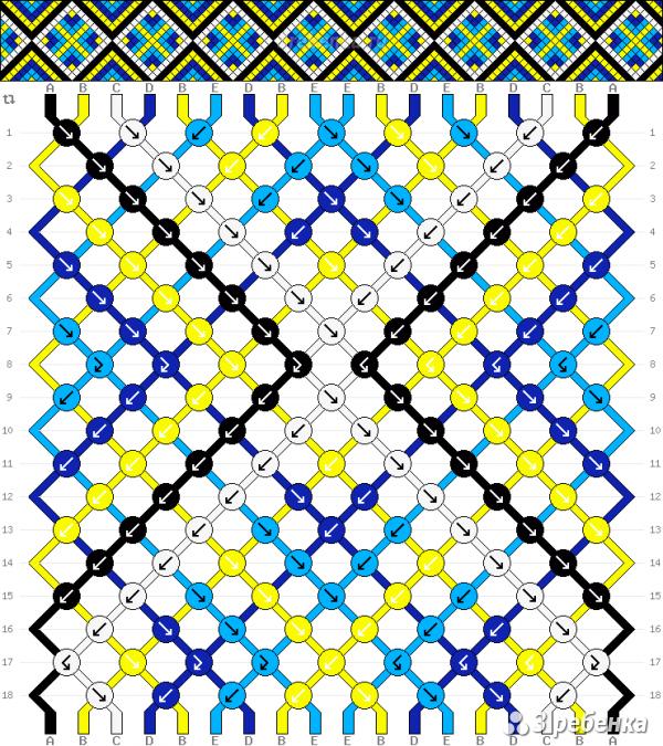 Схема фенечки 23611