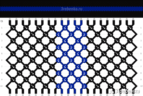 Схема фенечки 23657