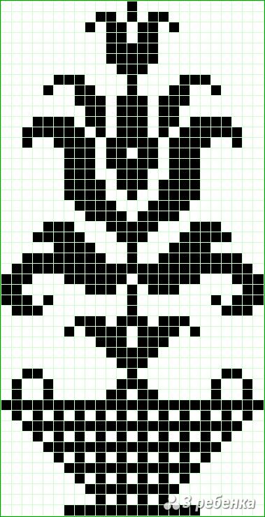 Схема фенечки прямым плетением 23503
