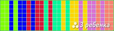 Схема фенечки прямым плетением 23482