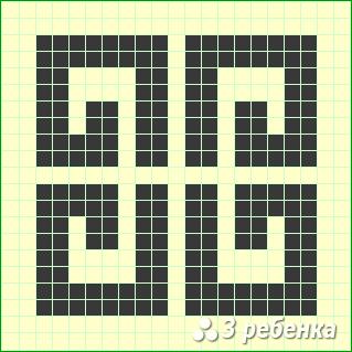 Схема фенечки прямым плетением 23493