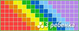 Схема фенечки прямым плетением 23498