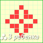 Схема фенечки прямым плетением 23488