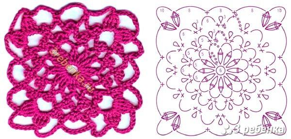 Схема вязания крючком 25