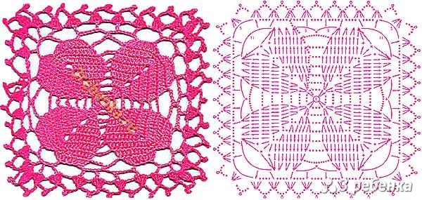 Схема вязания крючком 32