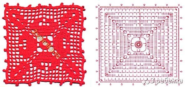 Схема вязания крючком 43