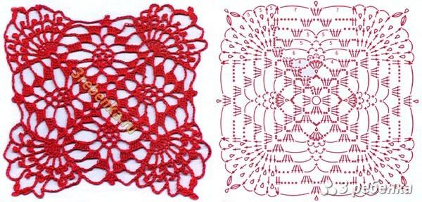 Схема вязания крючком 49