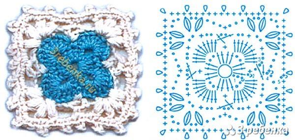 Схема вязания крючком 50