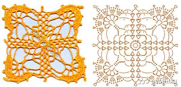 Схема вязания крючком 51