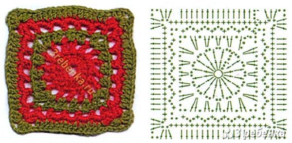 Схема вязания крючком 60