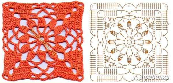 Схема вязания крючком 66