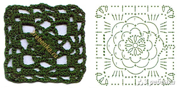 Схема вязания крючком 75