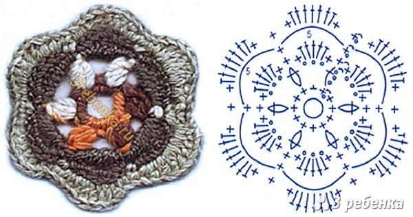 Схема вязания крючком 100