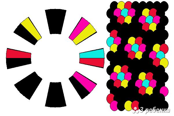 Схема фенечки кумихимо 24253