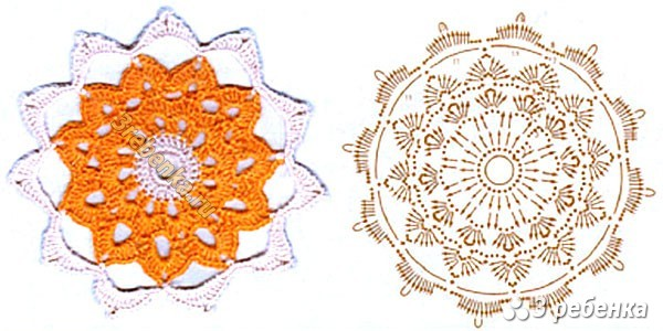 Схема вязания крючком 185