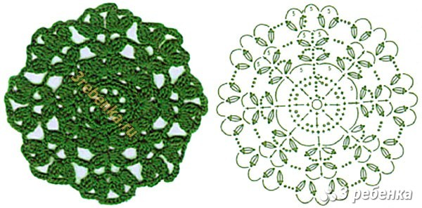 Схема вязания крючком 199